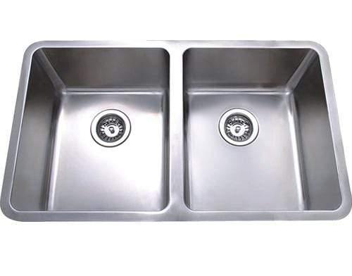 bad und kuche double bowl undermount sink axon bkr76d