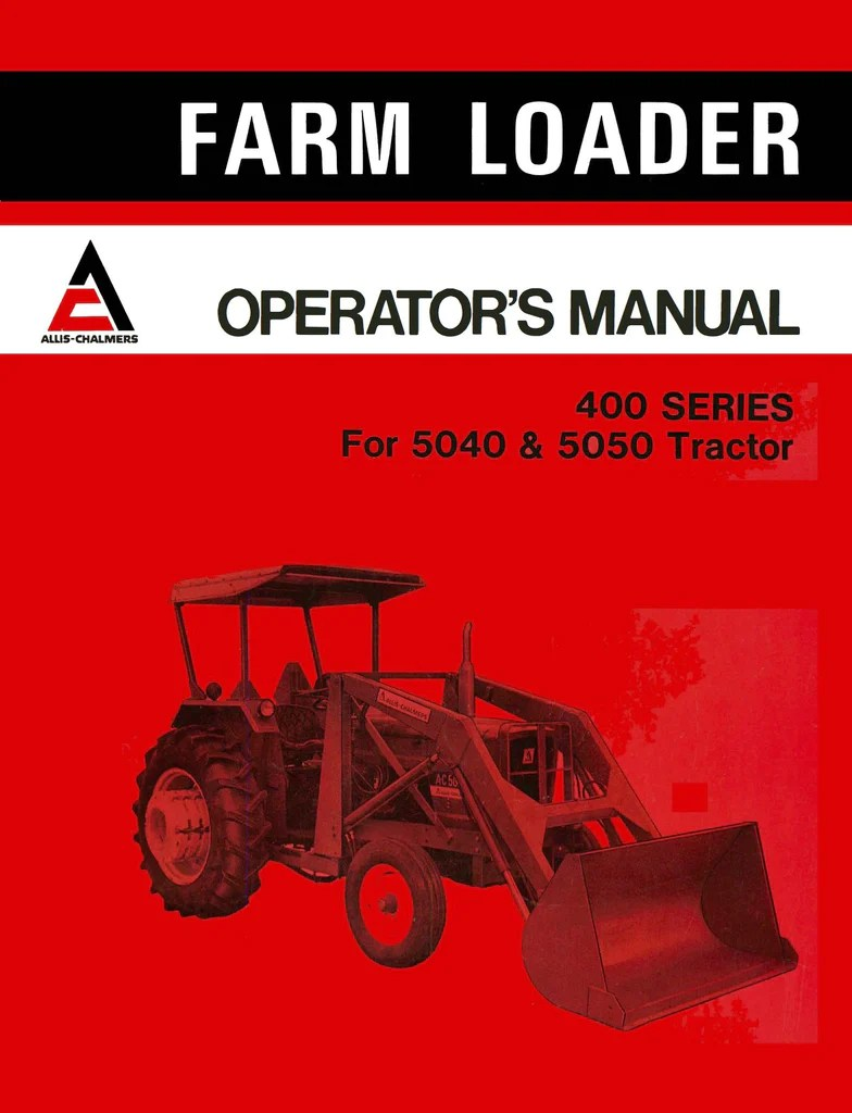 hight resolution of  allis chalmers 7080 sel tractor operator s manual on
