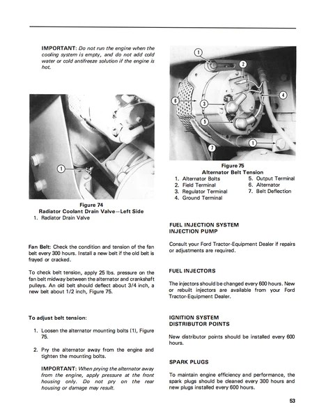 Ford 231, 340, 445, 531, 540, 545 Tractors  Operator's Manual