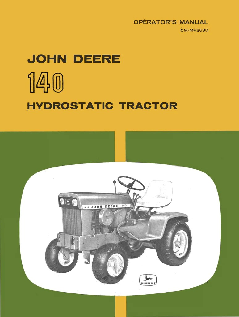 John Deere 140 Lawn Tractor Wiring Diagram - on