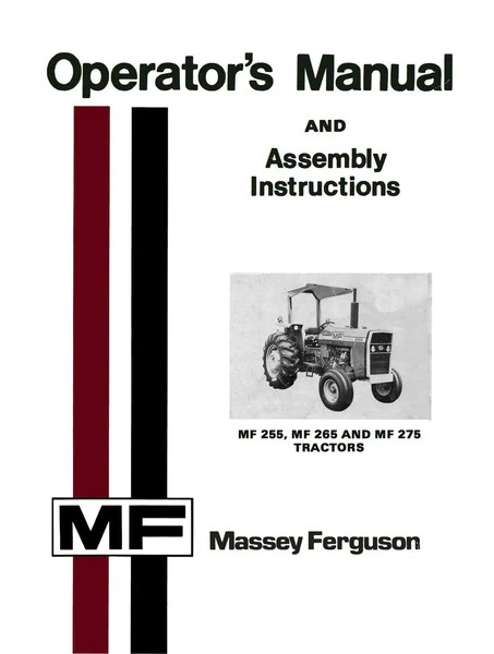 case ih wiring diagram cat5 wire massey ferguson mf 255, 265 and 275 tractors - operator's manual