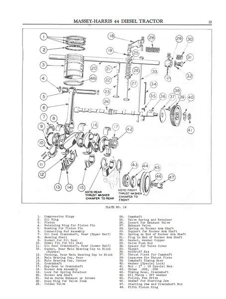 MasseyHarris 44 Diesel Tractors  Operating Instructions and Service