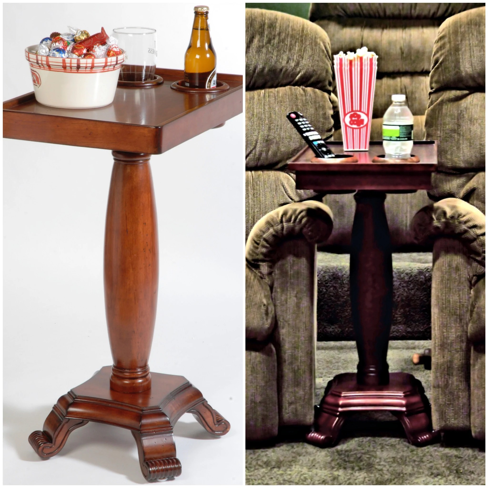 chair side end table with cup holder leg replacement small the