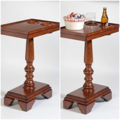 Chair Side End Table With Cup Holder Ergonomic Recliner Wooden Small
