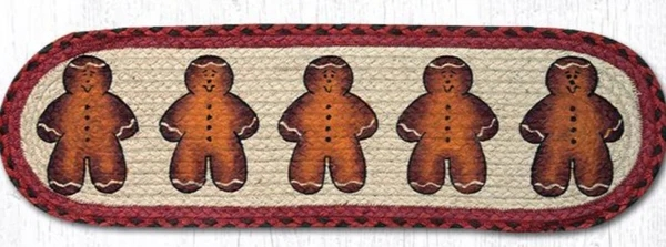 Earth Rugs Gingerbread Men Stair Tread – J Lee Decor And Gifts | Earth Rugs Stair Treads | Natural Jute | Burgundy Mustard | Non Slip | Area Rugs | Mats Rugs