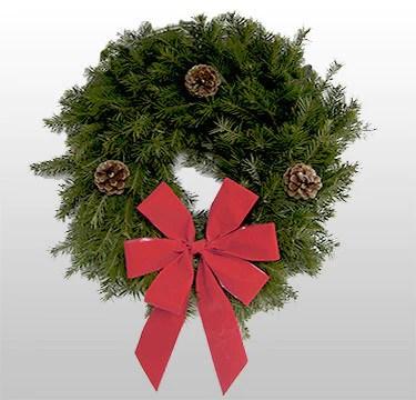 douglas fir red bow