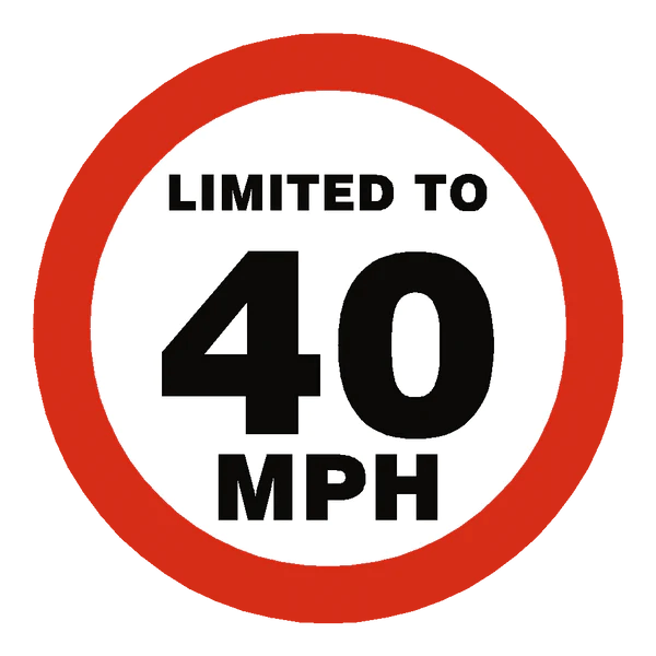 40 Mph Speed Limit Sticker Safety Label Co Uk Safety