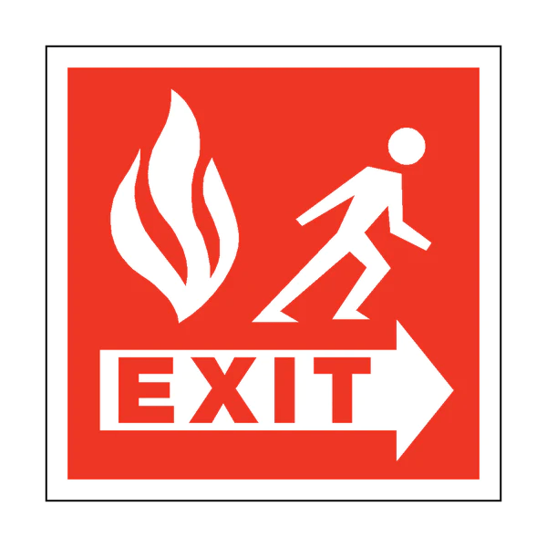 fire safety exit square