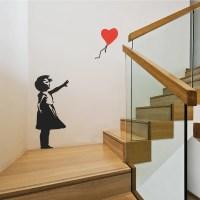 Banksy Balloon Girl Wall Sticker By Wallboss | Wallboss ...