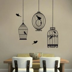 Living Room Wall Stencils Uk Rooms Modern Bird Cages Stickers Decals Vinyls Hanging Sticker Vintage Cage