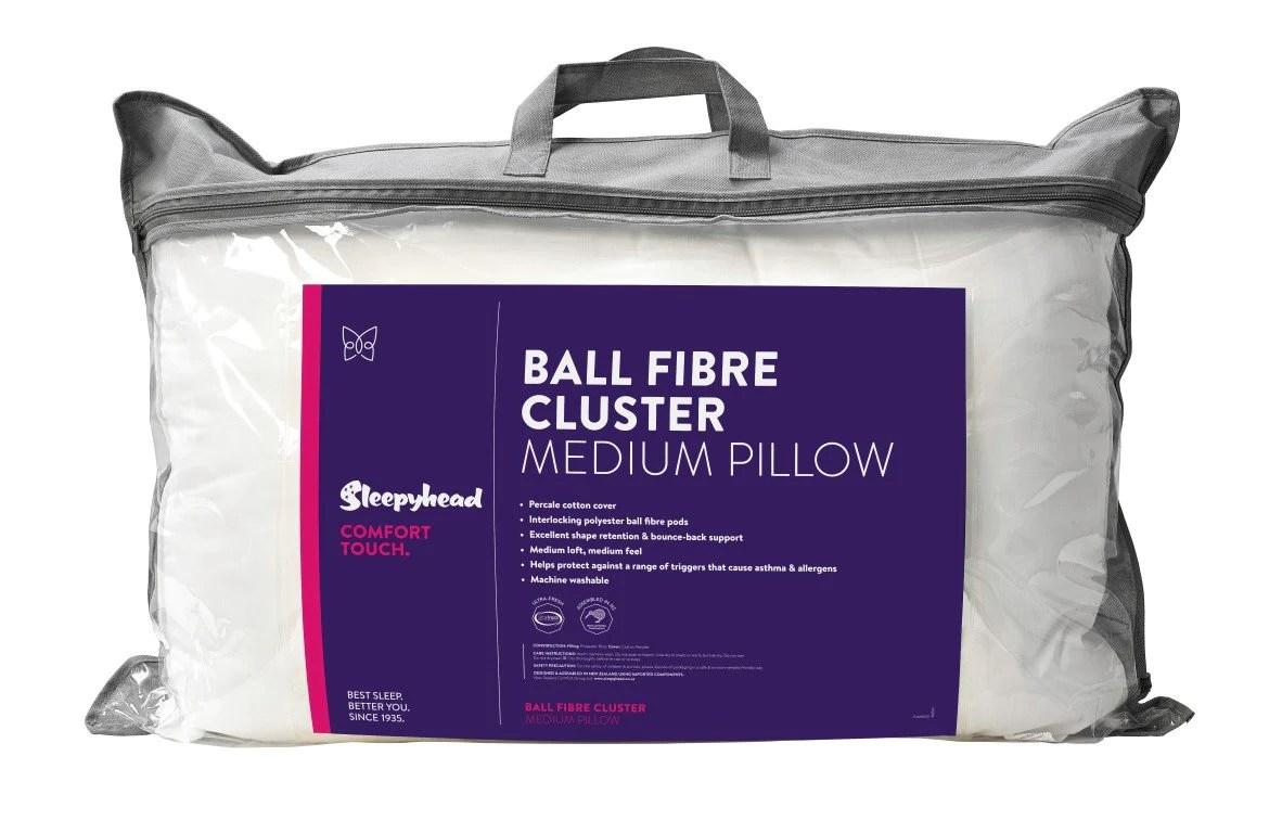 sleepyhead comfort touch ball fibre cluster pillow