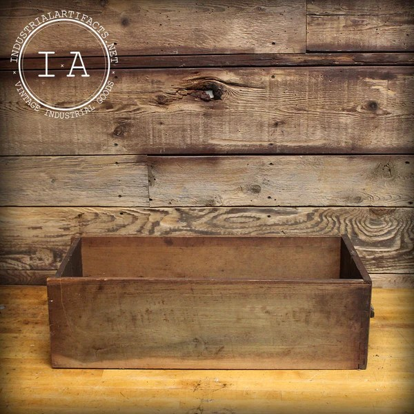 Antique Wooden Dovetail Joint Drawer  Industrial Artifacts