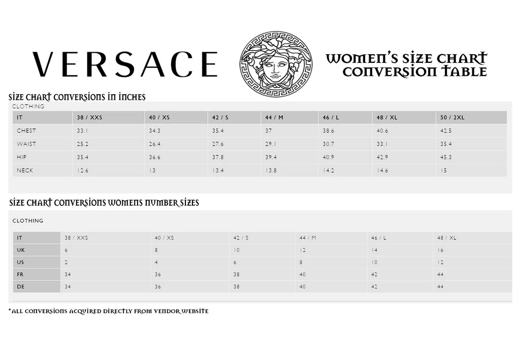 Versace size chart also dsquared uk rh dsquared mall