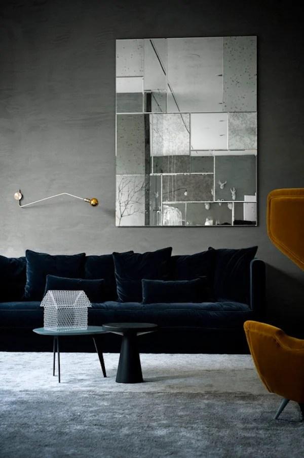 orange fabric sectional sofa beds london cheap 'tis the season: velvet in modern rooms – 212 concept ...