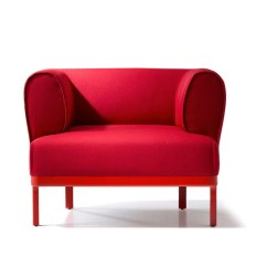 Red Lounge Chair Canvas Fabric For Outdoor Chairs Buy Curvy Rounded Arms Wide 212concept