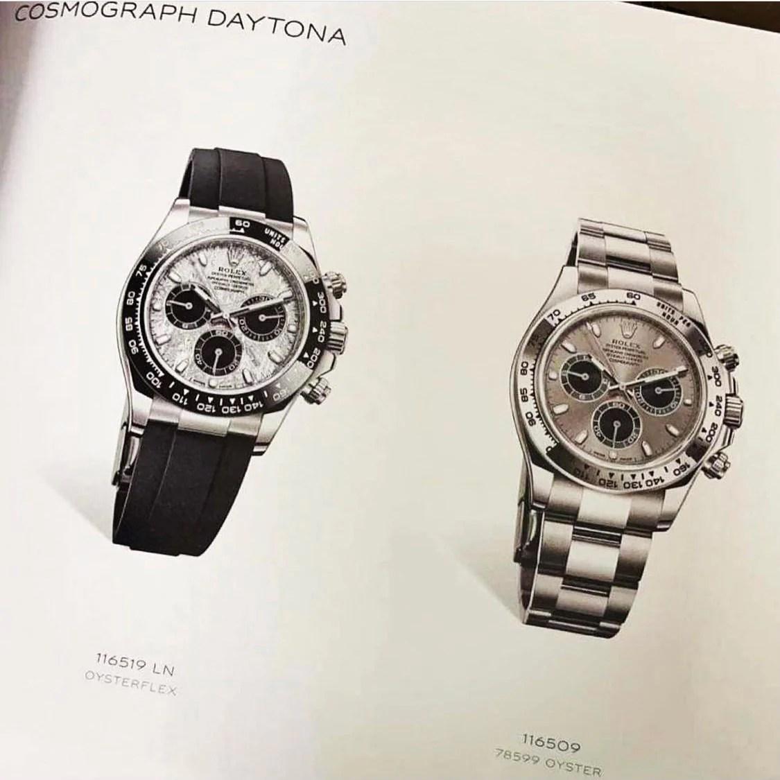 Rolex Daytona Meteorite Dial on Oysterflex