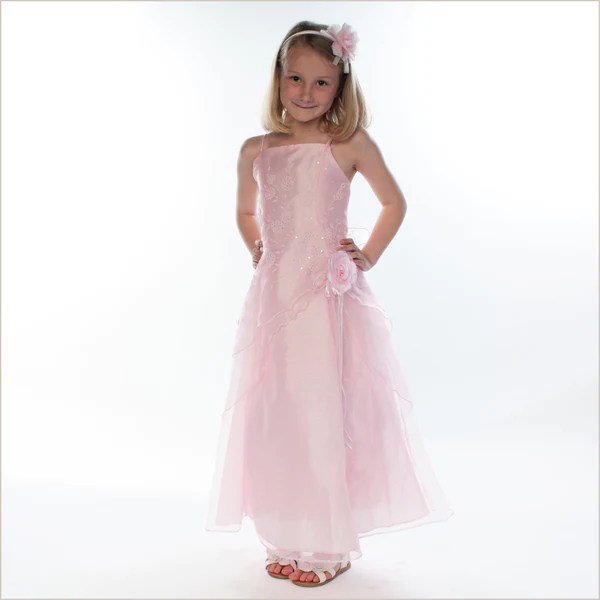 Pia Baby Pink Junior Bridesmaid Dress