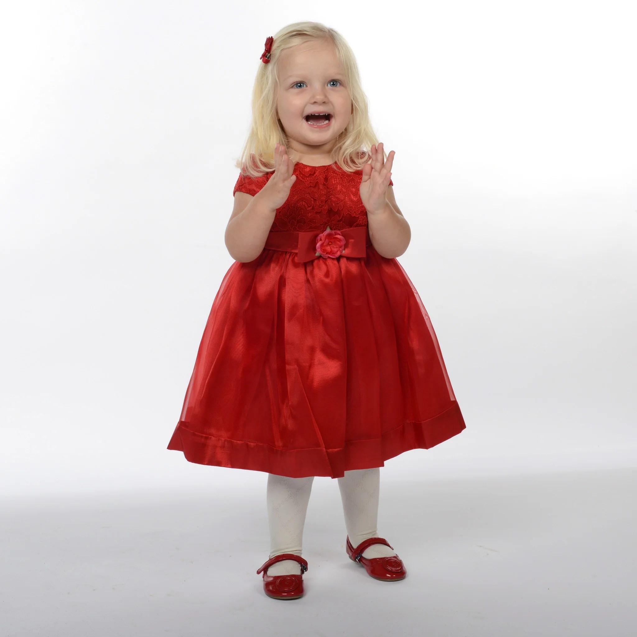 Red Christmas Dress Baby Girl