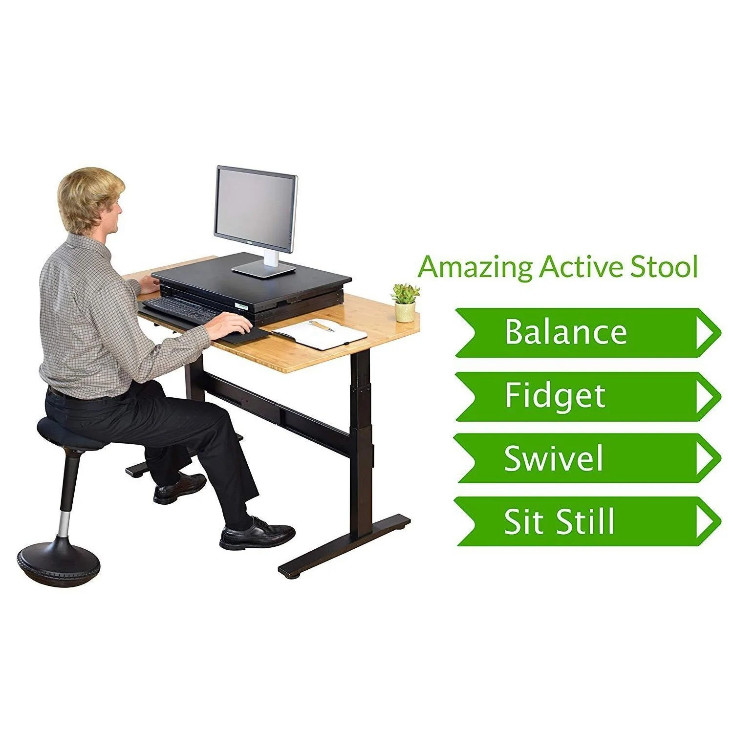 Active Sitting Chair Adjustable Height Active Sitting Balance Perching Chair Woemart