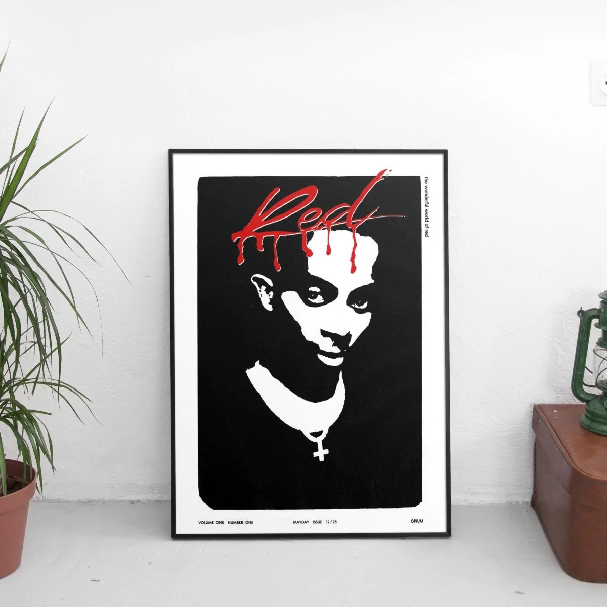playboi carti whole lotta red cover art poster