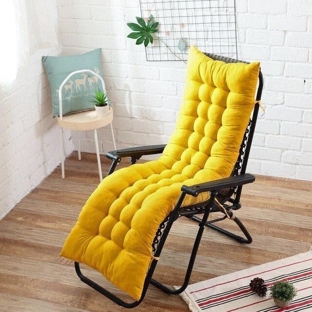coussin chaise longue jaune
