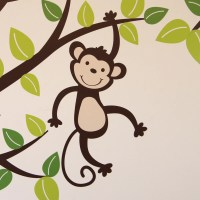 Monkey Tree and Branch Vine Wall Sticker | Parkins Interiors