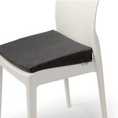Posture Chair Demo White Leather Wingback Thera Med Wedge Cushion Astley Mobility