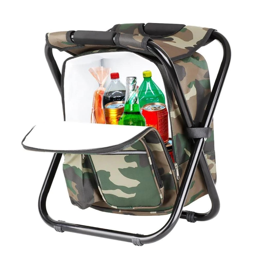 Folding Chair Backpack Folding Backpack Cooler Multipurpose Chair For Outdoor Fun