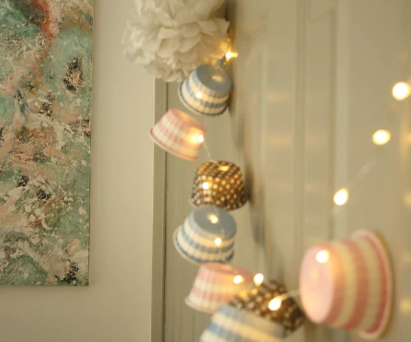 String of Baking Cup Lights