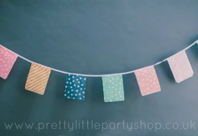Make easy bag bunting