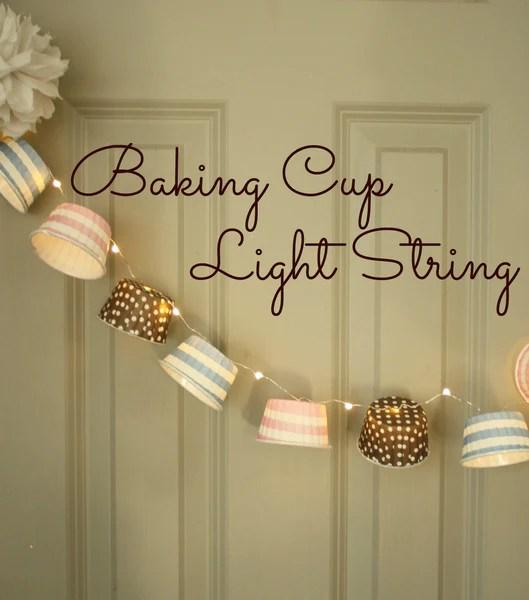 Baking Cups Fairy Lights DIY