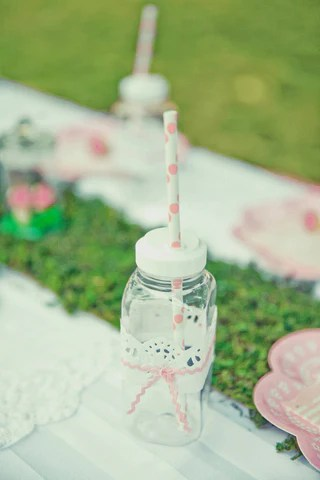 Pretty Little Drink Bottle with Straw