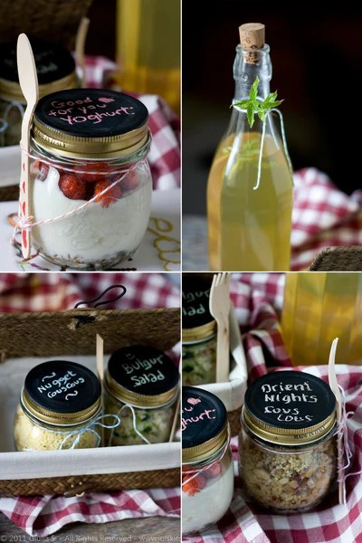 Jars and Bottles for Picnics