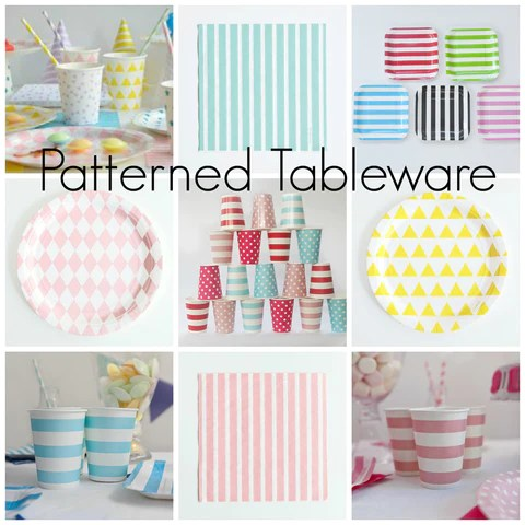 Patterned Tableware for Parties
