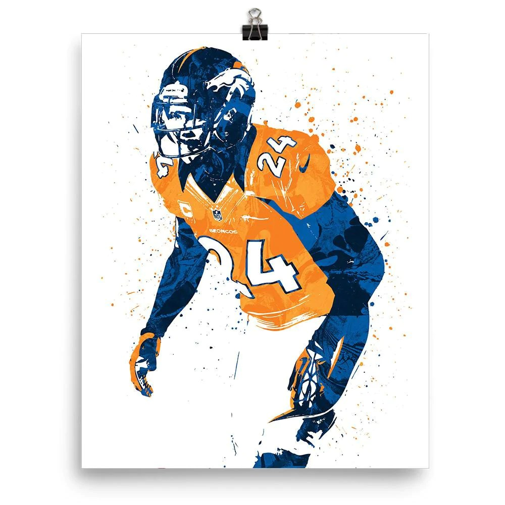 champ bailey denver broncos poster fanatic posters