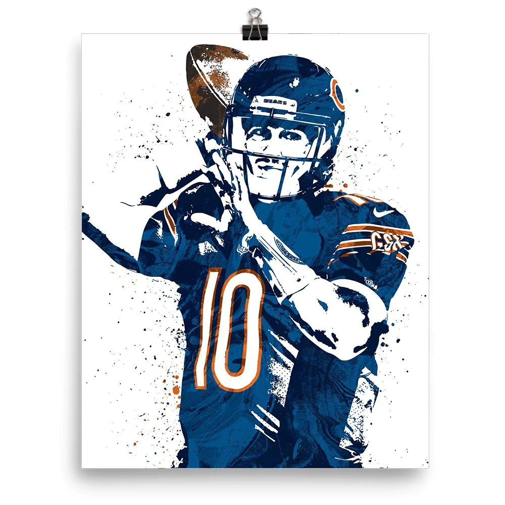 mitchell trubisky chicago bears poster fanatic posters