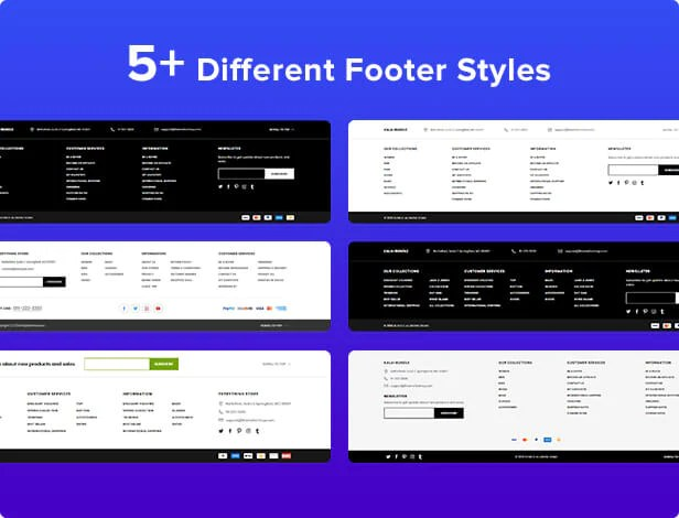 Shopify Kala with 5 footer options