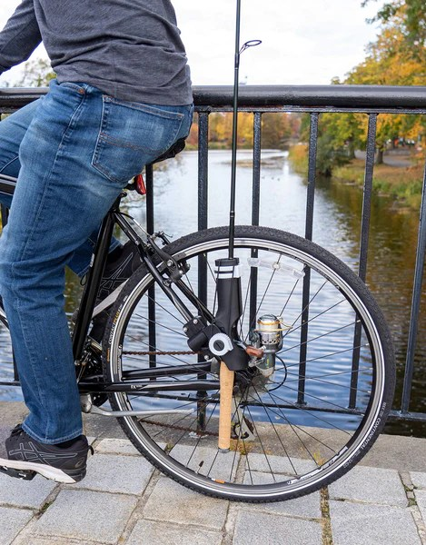 ateamproducts bike fishing rod holder