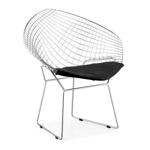 diamond chair replica yellow fabric office bertoia reproduction the modern source