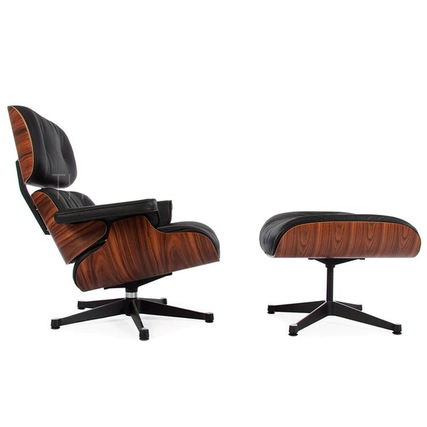office chair with ottoman best after back surgery eames lounge reproduction the modern source
