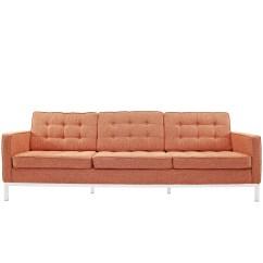 Replica Florence Knoll Sofa Nz Leather Denver Colorado Reproduction Fabric The Modern Source