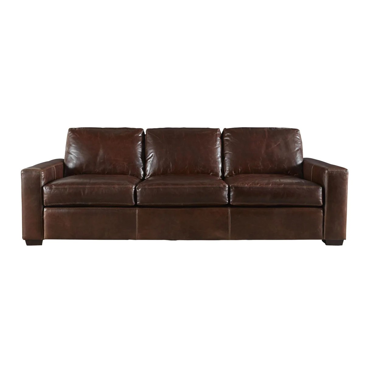 BENTLEY LARGE LEATHER SOFA