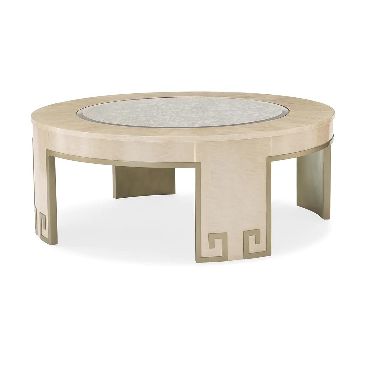 houston round coffee table