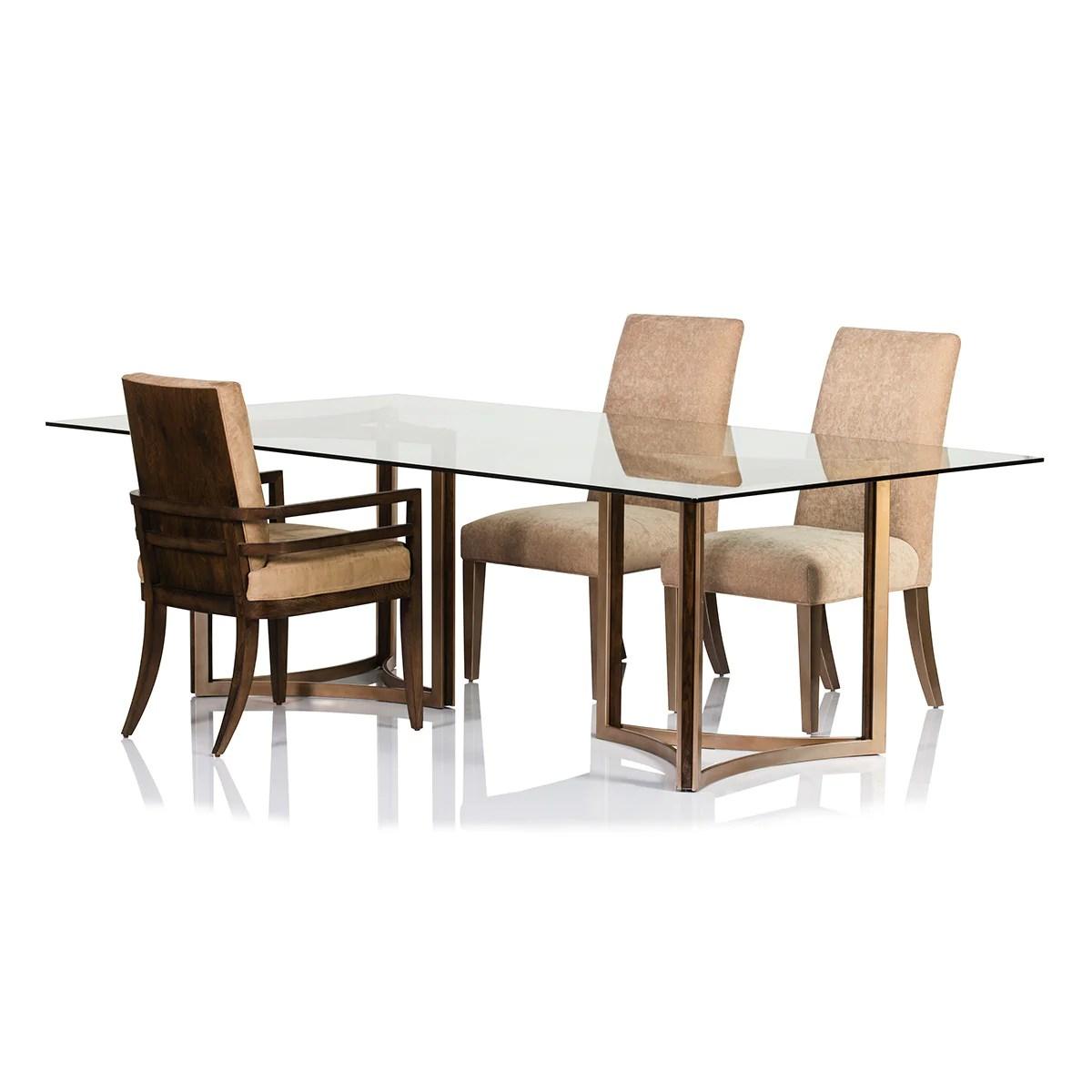 Manhattan Glass Top Table - Max Sparrow