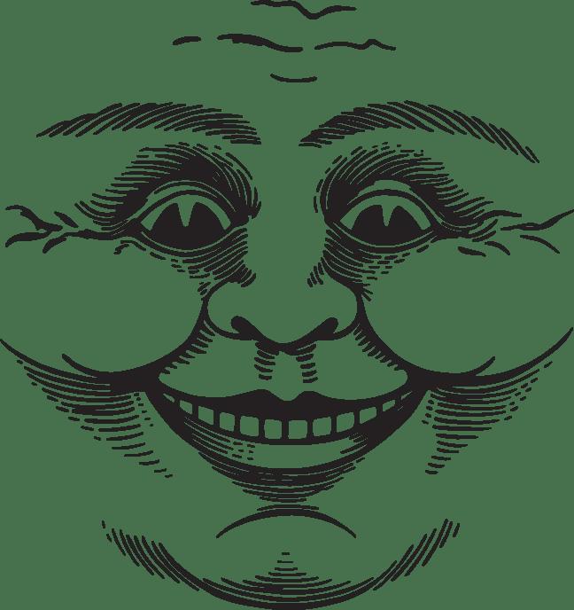 503ca cartoon face moon