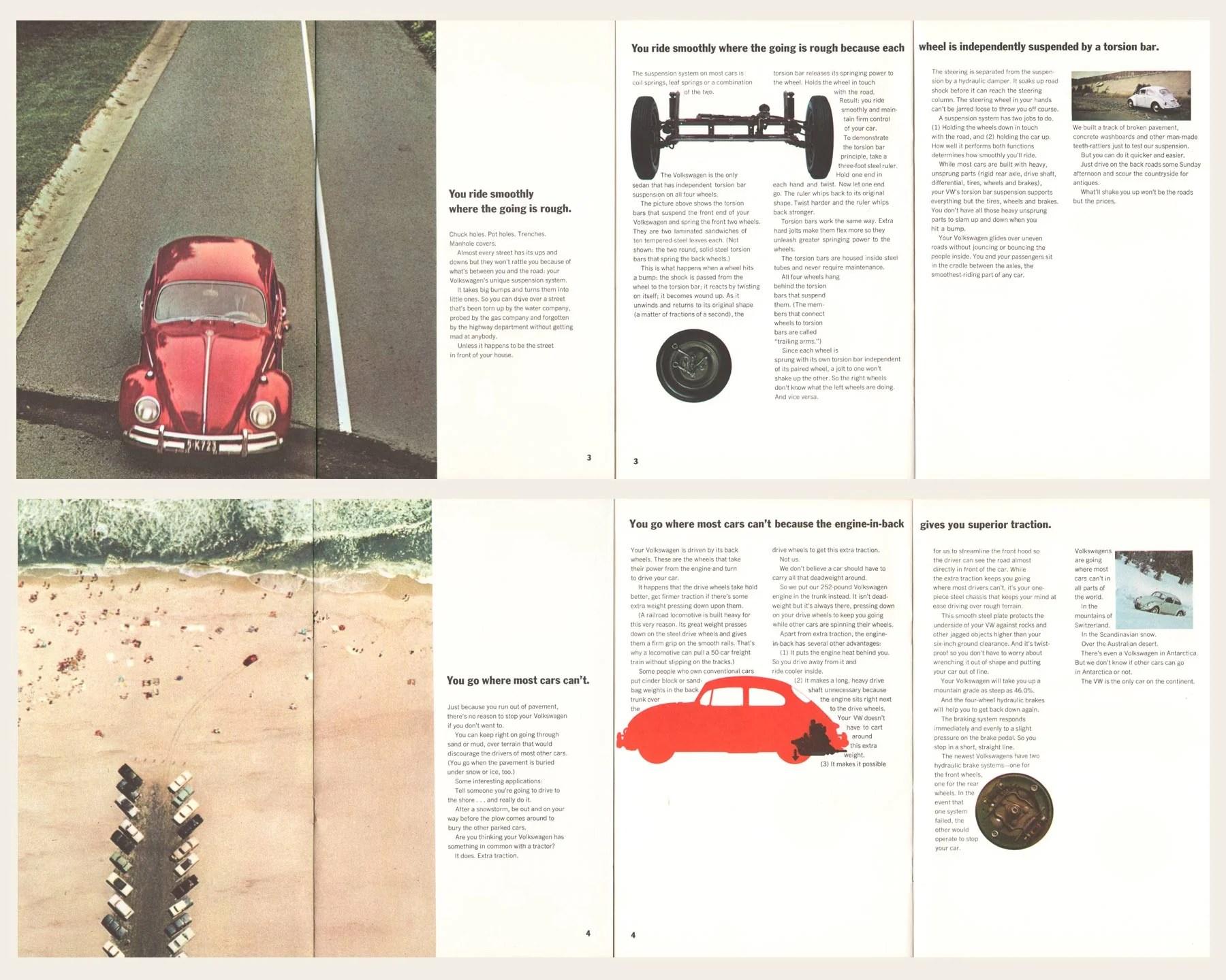 1965 volkswagen beetle brochure  [ 1800 x 1440 Pixel ]