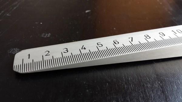 Aluminum Measuring Wedge  Measuring Dips in Floor or