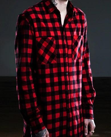 Men's Slim Flannel Shirt