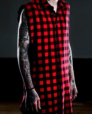 Men's Sleeveless Flannel Shirt