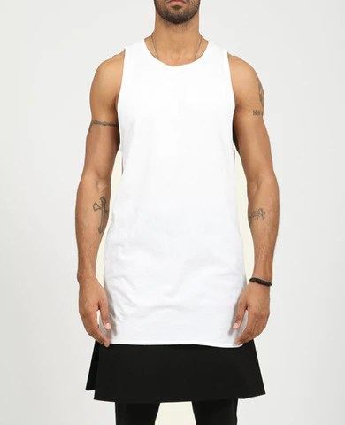 Men's Basic Long Tank Top